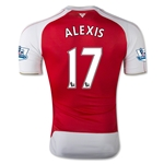 Arsenal 15/16 ALEXIS Authentic Home Soccer Jersey