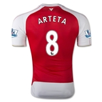 Arsenal 15/16 ARTETA Authentic Home Soccer Jersey