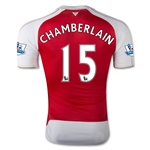 Arsenal 15/16 CHAMBERLAIN Authentic Home Soccer Jersey