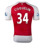 Arsenal 15/16 COQUELIN Authentic Home Soccer Jersey