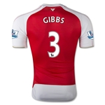 Arsenal 15/16 GIBBS Authentic Home Soccer Jersey