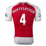 Arsenal 15/16 MERTESACKER Authentic Home Soccer Jersey