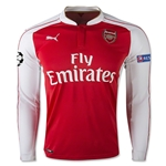 Arsenal 15/16 UCL LS Home Soccer Jersey
