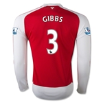 Arsenal 15/16 GIBBS LS Home Soccer Jersey