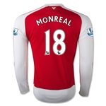 Arsenal 15/16 MONREAL LS Home Soccer Jersey