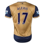 Arsenal 15/16 ALEXIS Away Soccer Jersey