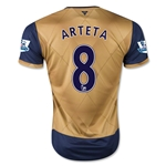 Arsenal 15/16 ARTETA Away Soccer Jersey