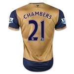 Arsenal 15/16 CHAMBERS Away Soccer Jersey