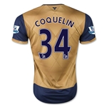 Arsenal 15/16 COQUELIN Away Soccer Jersey