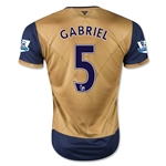Arsenal 15/16 GABRIEL Away Soccer Jersey