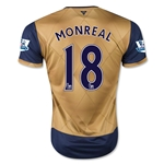 Arsenal 15/16 MONREAL Away Soccer Jersey