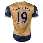 Arsenal 15/16 S. CAZORLA Away Soccer Jersey