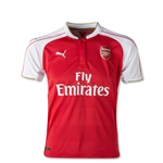 Arsenal 15/16 Youth Home Soccer Jersey