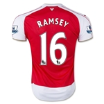 Arsenal 15/16 RAMSEY Youth Home Soccer Jersey