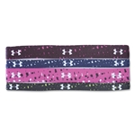 Under Armour Women's Graphic Elastic Headband 4 Pack (Navy/White)