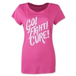 Under Armour Power in Pink Go Fight Cure T-Shirt (Pink/White)