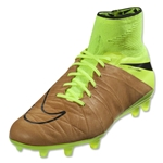 Nike Hypervenom Phantom II Leather FG (Canvas/Black/Volt)
