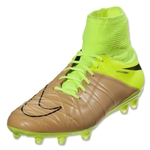 Nike Hypervenom Phatal 2 DF Leather FG (Canvas/Black/Volt)