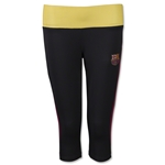 Barcelona Women's Capri Leggings with Reversible Band