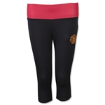 Manchester United Women's Capri Leggings with Reversible Band