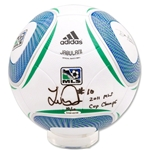 Upper Deck Landon Donovan Autographed MLS Official Match Soccer Ball w/ Champ Inscription