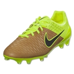 Nike Magista Opus Leather FG (Canvas/Black/Volt)