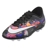 Nike Mercurial Vortex II CR FG-R Junior (Black/White/Total Crimson)