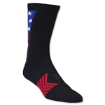 Under Armour Undeniable Crew Patriot Sock (Black)