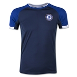 Chelsea Youth Poly Panel T-Shirt (Navy)