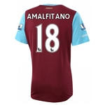 West Ham 15/16 AMALFITANO Home Soccer Jersey