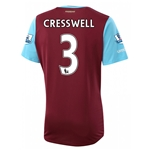 West Ham 15/16 CRESSWELL Home Soccer Jersey