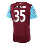 West Ham 15/16 OXFORD Home Soccer Jersey