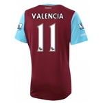 West Ham 15/16 VALENCIA Home Soccer Jersey