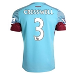 West Ham 15/16 CRESSWELL Away Soccer Jersey