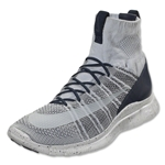 Nike Free Flyknit Mercurial Leisure Shoe (Pure Platinum)