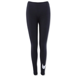 Nike Club Large Swoosh Legging (Black/White)