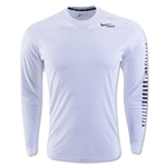 Nike Lacrosse Hyperspeed Long Sleeve Shirt (White)