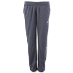 adidas Women's Ultimate Fleece Logo Adjustable Pant (Dk Gray)
