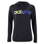 adidas Ultimate Women's Fleece Logo Pullover Hoody (Black)
