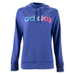 adidas Ultimate Fleece Logo Pullover Hoody (Blue)