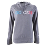 adidas Ultimate Women's Fleece Logo Pullover Hoody (Gray)