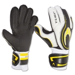 HO Soccer Turf Flat Palm 15 Glove (Black/Yellow/White)