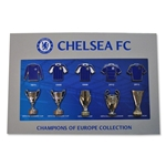 Chelsea UEFA Trophies and Jersey Pin Collection