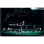 Upper Deck Barcelona Messi Color of the Game 24 x 16 Signed Framed Picture