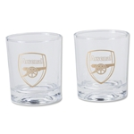 Arsenal 2 Pack Whiskey Glass Set