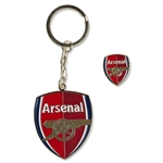 Arsenal Crest Keyring & Badge Set