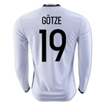 Germany 2016 GOTZE LS Home Soccer Jersey