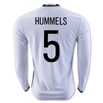 Germany 2016 HUMMELS LS Home Soccer Jersey