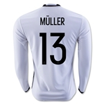 Germany 2016 MULLER LS Home Soccer Jersey