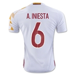 Spain 2016 A. INIESTA Away Soccer Jersey